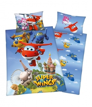 Kinder-Bettwäsche-Garnitur «Super Wings»