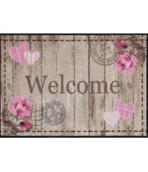 Fussmatte «Welcome Roses»