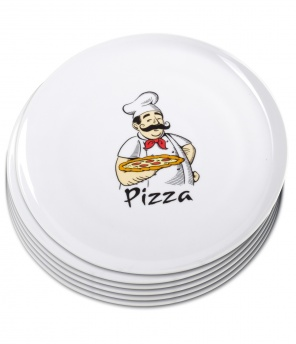 Pizzateller «Pizza», 6er-Set