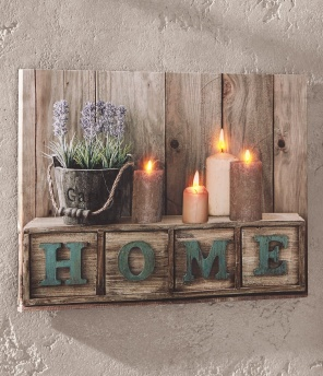 "LED-Bild ""Home"""