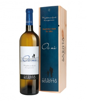 Oi nì Fiano Barrique, Magnum in personalisierter Holzkiste