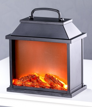 LED-Feuerlaterne «Kamin»